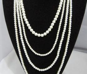 Jewelry Long section of the pearl necklace A-147 fashion