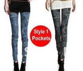 ladies' skinny slim elastic denim jeans leggings pencil pants